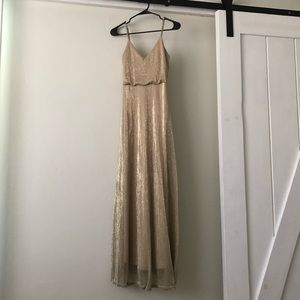 Lulu's Gold Bridesmaid Dress